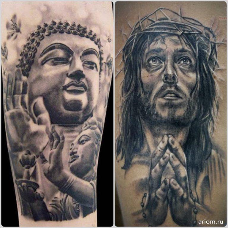 Tattoo: Buddha vs. Jesus 2