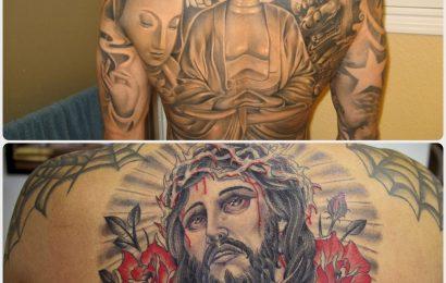 Tattoo: Buddha vs. Jesus 4