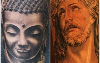 Tattoo: Buddha vs. Jesus 5
