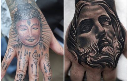 Tattoo: Buddha vs. Jesus 6