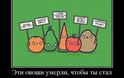 Эти овощи умерли, чтобы…