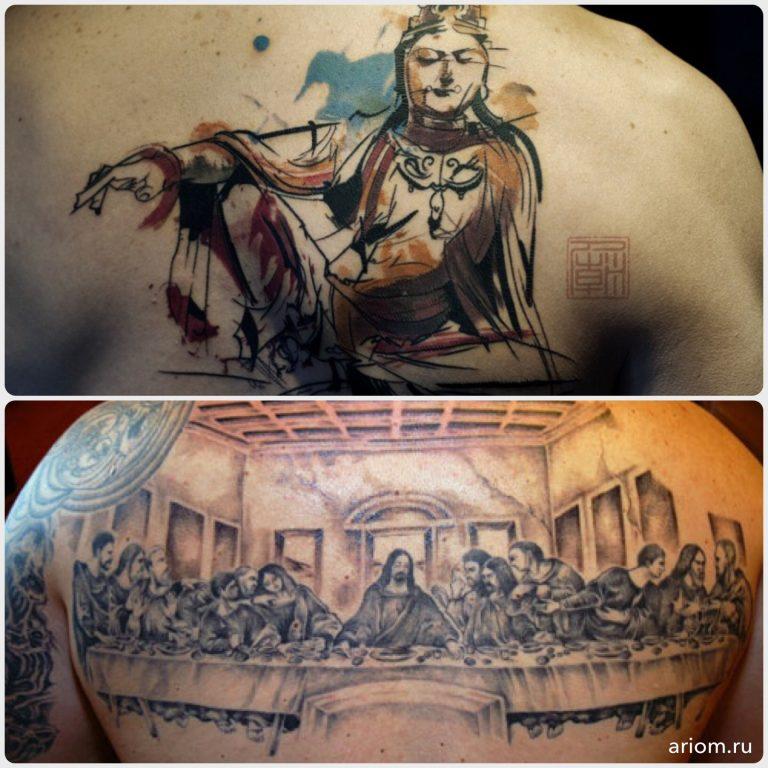 Tattoo: Buddha vs. Jesus 8