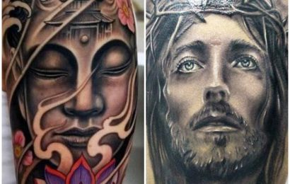 Tattoo: Buddha vs. Jesus 9