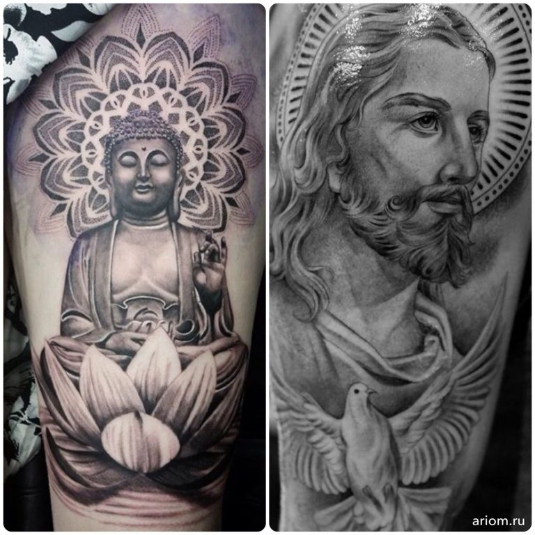 Tattoo: Buddha vs. Jesus 12