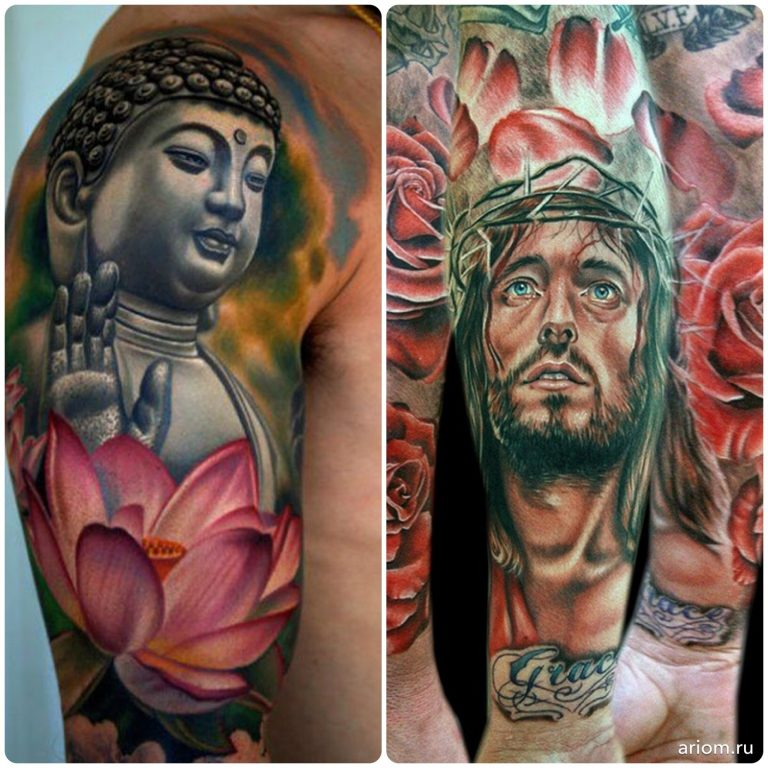 Tattoo: Buddha vs. Jesus 13